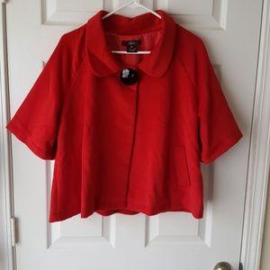 Luii red short sleeve coat